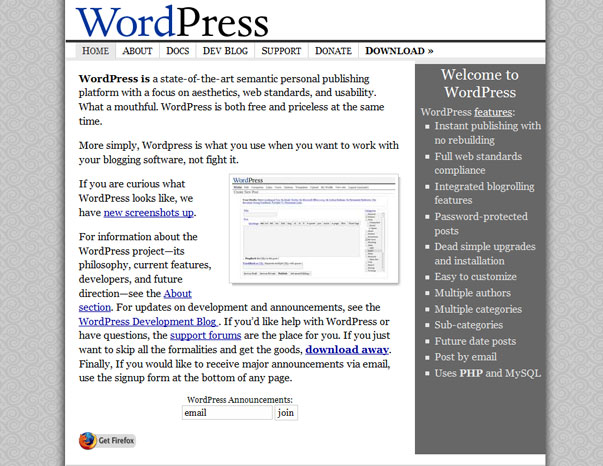 WordPress 2004